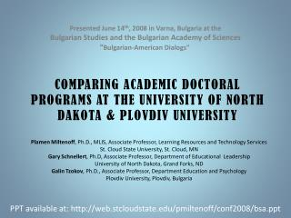 Plamen Miltenoff , Ph.D., MLIS, Associate Professor, Learning Resources and Technology Services