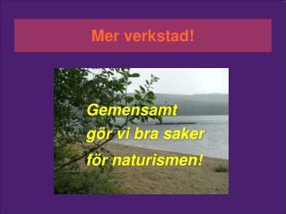 Gemensamt  gör vi bra saker för naturismen!