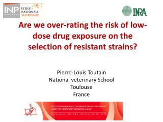 Are we over-rating the risk of low-dose drug exposure on the selection of resistant strains?