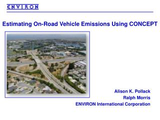 Estimating On-Road Vehicle Emissions Using CONCEPT