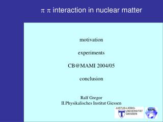 p p  interaction in nuclear matter