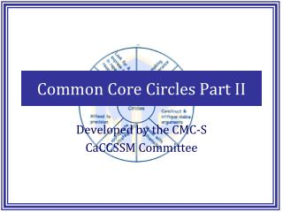 Common Core Circles Part II