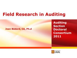 Field  Research  in Auditing
