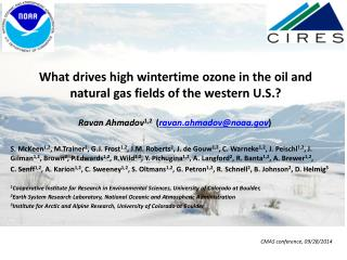 What drives high wintertime ozone in the oil and natural gas fields of the  western  U.S.?
