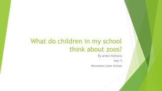 What do children in my school think about zoos?