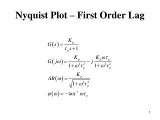 Nyquist Plot � First Order Lag