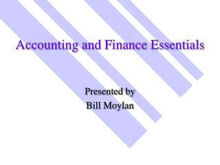 Accounting and Finance Essentials
