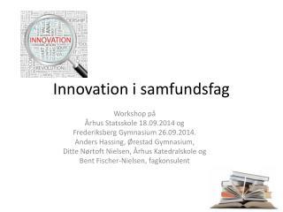 Innovation i samfundsfag
