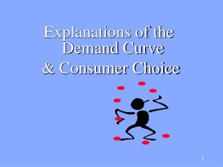 Explanations of the Demand Curve  & Consumer Choice