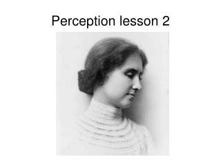 Perception lesson 2