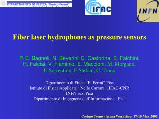Fiber laser hydrophones as pressure sensors