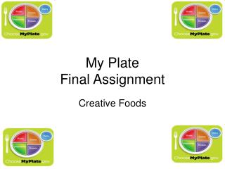 My Plate  Final Assignment