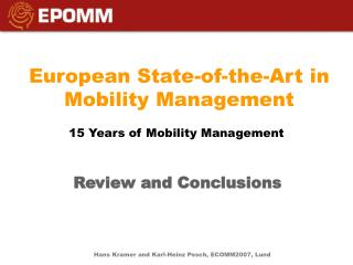 European State-of-the-Art in Mobility Management