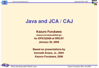 Java and JCA