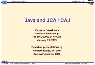 Java and JCA