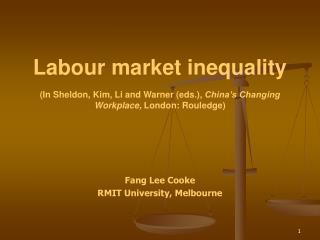Fang Lee Cooke RMIT University, Melbourne