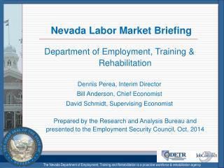 Nevada Labor Market Briefing
