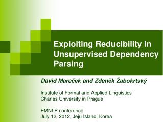 Exploiting Reducibility in Unsupervised Dependency Parsing