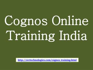 cognos online training india