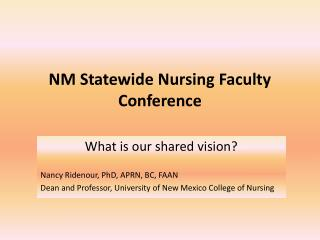 NM Statewide Nursing Faculty Conference