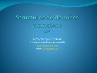 Structures de données avancées :  LH*