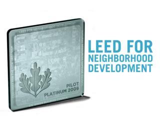 LEED-ND Public Presentation