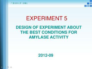 EXPERIMENT 5