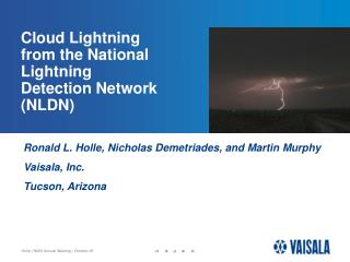 Cloud Lightning from the National Lightning Detection Network (NLDN)