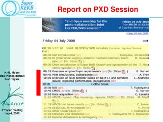 Report on PXD Session