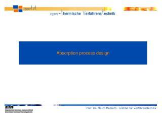 Absorption process design