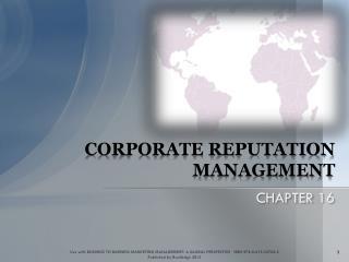 CORPORATE REPUTATION MANAGEMENT