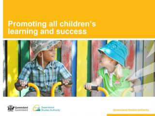 Promoting all children's  learning and success