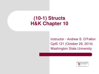 (10-1) Structs  H&K Chapter 10