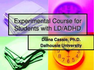 Experimental Course for Students with LD/ADHD