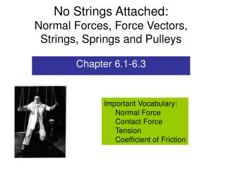 No Strings Attached: Normal Forces, Force Vectors, Strings, Springs and Pulleys