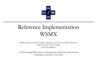 Reference Implementation WSMX
