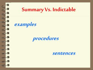 Summary Vs. Indictable
