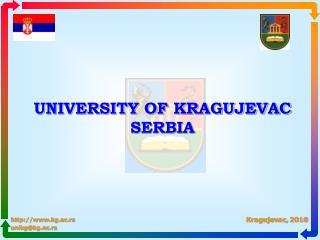 UNIVERSITY OF KRAGUJEVAC SERBIA