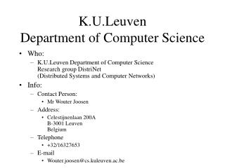 K.U.Leuven  Department of Computer Science