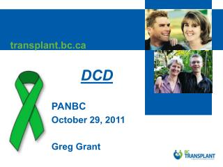 DCD  PANBC October 29, 2011  Greg Grant