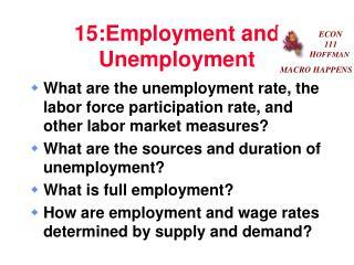 15:Employment and Unemployment