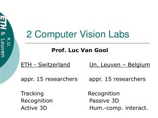 2 Computer Vision Labs