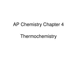 AP Chemistry Chapter 4