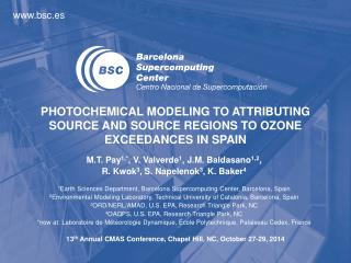 PHOTOCHEMICAL  MODELING TO ATTRIBUTING SOURCE AND SOURCE REGIONS TO OZONE EXCEEDANCES IN SPAIN
