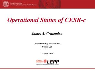 Operational Status of CESR-c