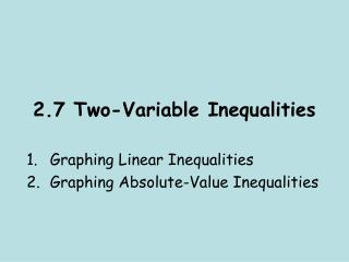 2.7 Two-Variable Inequalities