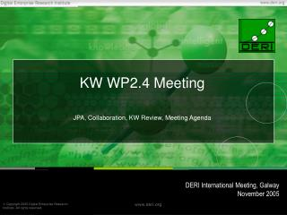 KW WP2.4 Meeting