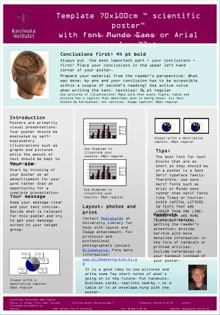 """Template 70x100cm """" scientific poster""""  with font Mundo Sans or Arial regular 72pt"""