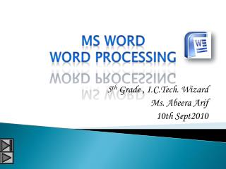 MS word word processing