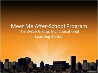 Meet Me After-School Program